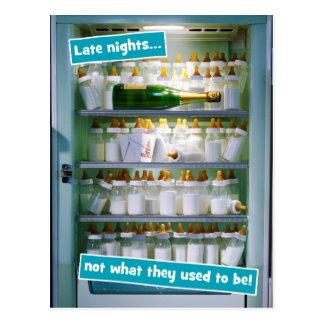 哺乳瓶のシャンペンの冷蔵庫 ポストカード