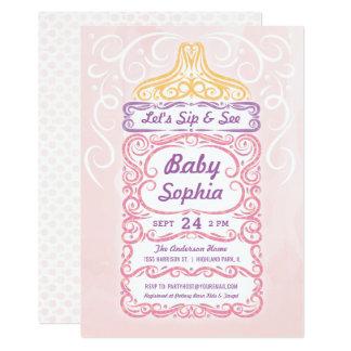 哺乳瓶の女の子をすすり、会って下さい カード