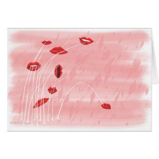 唇のかみ傷 カード