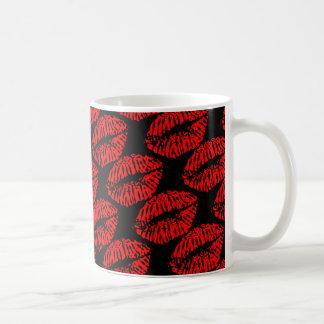 唇、赤い唇、キス コーヒーマグカップ