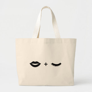 唇 + 鞭のトートのグラフィック ラージトートバッグ