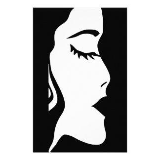 唇、顔、毛、女性、女の子、彼女 便箋