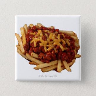 唐辛子のチーズ揚げ物 缶バッジ
