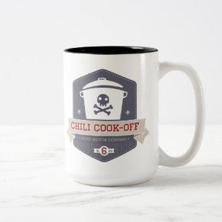 唐辛子の調理師のコーヒーカップ ツートーンマグカップ