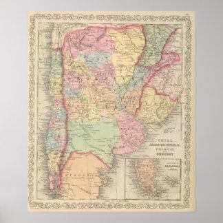 唐辛子、アルゼンチン共和国、パラグアイおよびウルグアイ ポスター