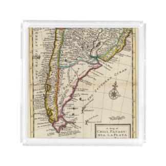 唐辛子、パタゴニア、ラプラタの地図 アクリルトレー