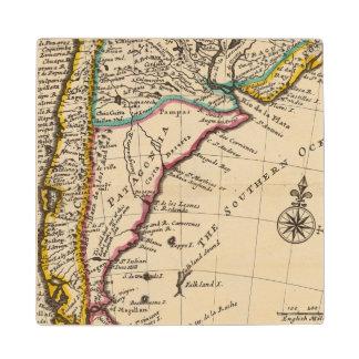 唐辛子、パタゴニア、ラプラタの地図 ウッドコースター