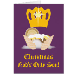唯一のクリスマスの神は息子カスタマイズ カード