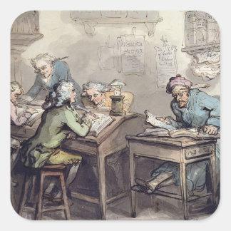 商人のオフィス1789年(ペン及びインクおよびw/c スクエアシール