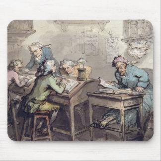 商人のオフィス1789年(ペン及びインクおよびw/c マウスパッド