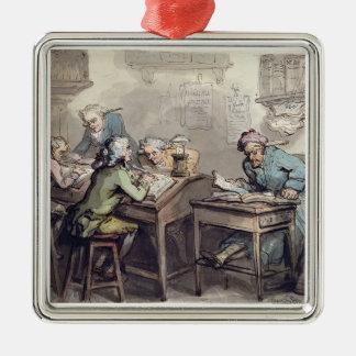 商人のオフィス1789年(ペン及びインクおよびw/c メタルオーナメント