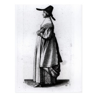 商人の妻1640年 ポストカード