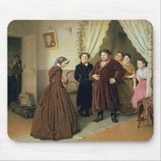 商人の家で着いている女性家庭教師 マウスパッド