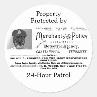 商人の警察および興信所 ラウンドシール