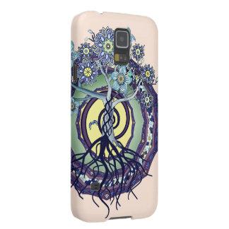 啓発の抽象芸術の電話箱の木 GALAXY S5 ケース