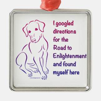 啓発への子犬の道 メタルオーナメント
