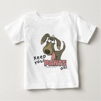 喘ぐことはズボンを犬保ちます ベビーTシャツ