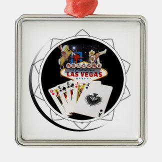 喜ばしい徴候の黒のポーカー用のチップ メタルオーナメント