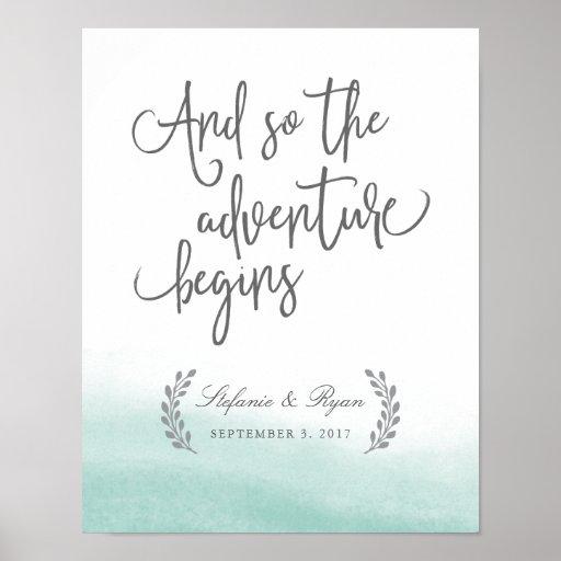 喜ばしい徴候を結婚するSeaglassの潮 ポスター