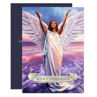 喜ばせて下さい! イエス・キリストは上がります。 宗教イースターカード カード