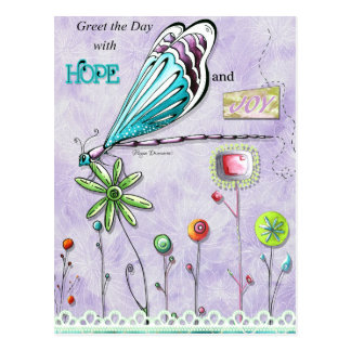 喜びおよび希望の郵便はがきとの日に挨拶して下さい ポストカード