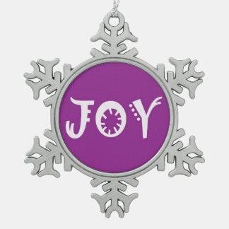 喜びのクリスマスのオーナメント スノーフレークピューターオーナメント