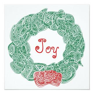 喜びのクリスマスのリース カード