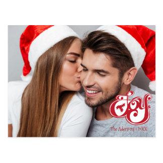 喜びのクリスマスの休日の写真の郵便はがき ポストカード