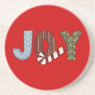 喜びのクリスマスの砂岩コースター コースター