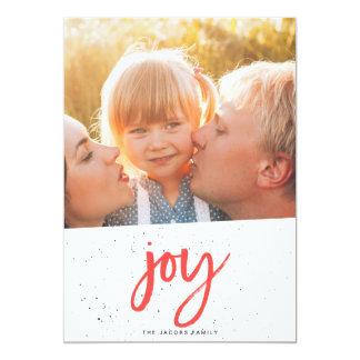 喜びのクリスマスカード[赤い] 12.7 X 17.8 インビテーションカード