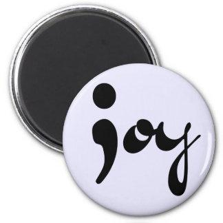 喜びのセミコロンの磁石 マグネット