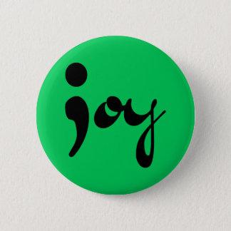 喜びのセミコロンボタン 缶バッジ