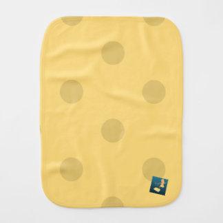 喜びのベビーの金ゴールドの水玉模様のBurpieの跳躍の布 バープクロス