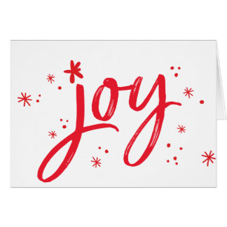 喜びのモダンで企業のな休日の挨拶の赤の輝き ノートカード