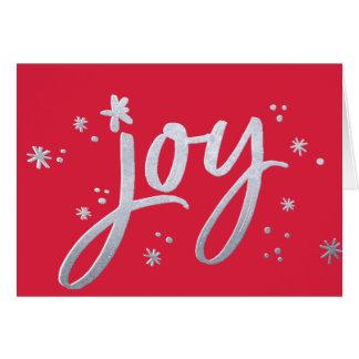 喜びのモダンで企業のな休日の赤い銀の輝き ノートカード