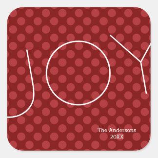 喜びのモダンな点-正方形のステッカー スクエアシール