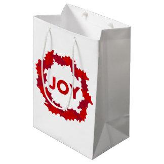 喜びのリース ミディアムペーパーバッグ