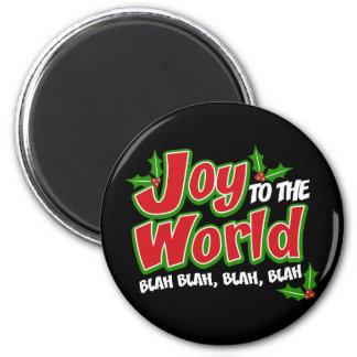 喜びの世界の何とかかんとか円形の磁石(暗い) マグネット
