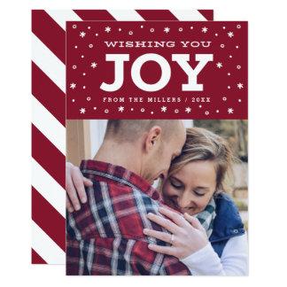 喜びの休日の写真カードを望みます カード