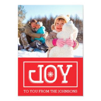 喜びの休日カード(赤い) カード