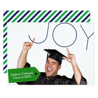 喜びの写真- 3x5卒業の発表 8.9 x 12.7 インビテーションカード