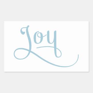 喜びの原稿の空 長方形シール