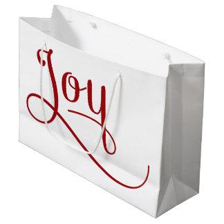 喜びの原稿の赤 ラージペーパーバッグ