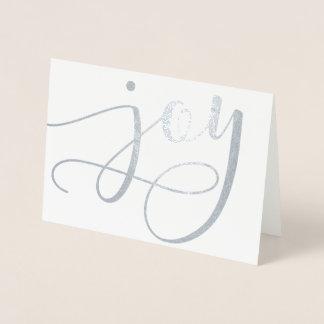 喜びの原稿(実質ホイル)の休日カード 箔カード