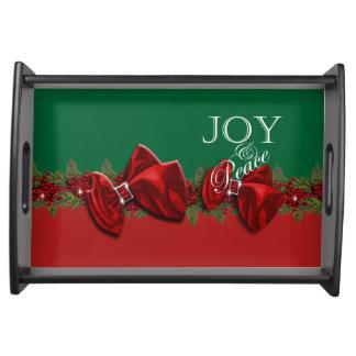 喜びの平和クリスマスのリースの装飾