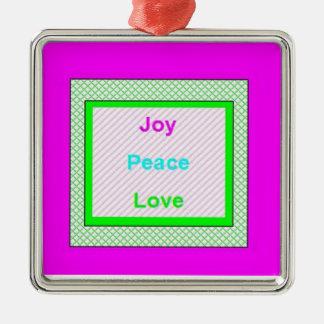 喜びの平和愛情報通の粋な飾り金具のピンク メタルオーナメント