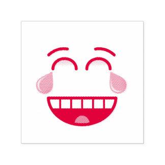 喜びの破損が付いている顔 セルフインキングスタンプ
