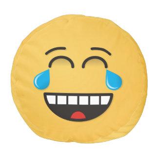 喜びの破損が付いている顔 ラウンドクッション