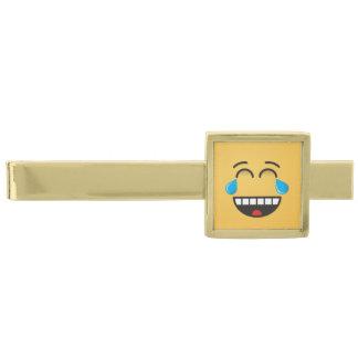 喜びの破損が付いている顔 金色 ネクタイピン