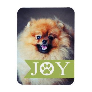 喜びの緑の旗ペット写真の休日の磁石 マグネット